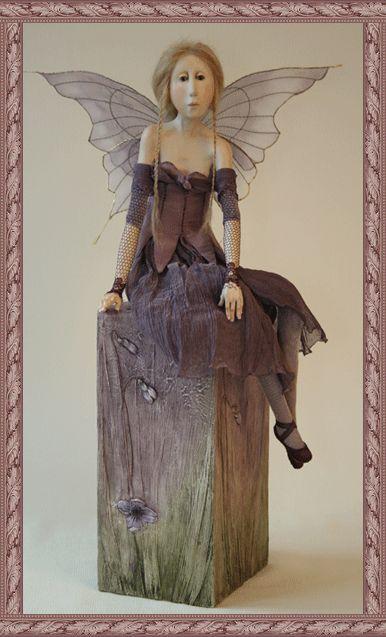 paperclay faerie by dutch artist Tine Kamerbeek