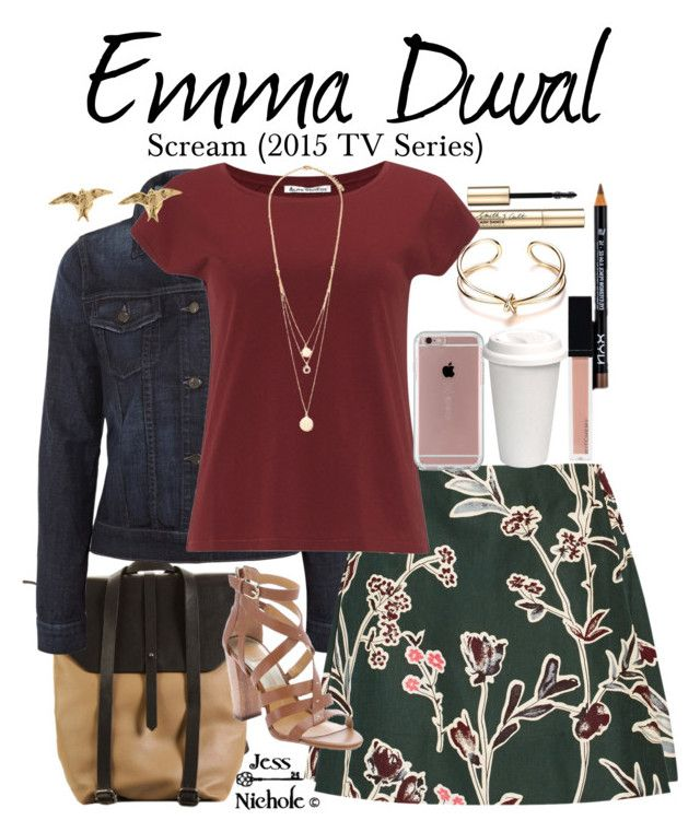 """Emma Duval"" by jess-nichole ❤ liked on Polyvore featuring Hadaki, Smith & Cult, J Brand, Marni, NYX, Acne Studios, Dolce Vita, Forever 21, Alex Monroe and Speck"