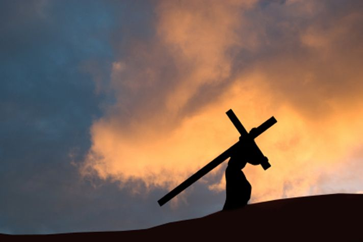 """Jesus carrying the cross."""" And teaching them to obey everything I have commanded you. & surely I am with you always, to the very end of the age."""" -Matthew 28:20  /  Love and value yourself. You are God's creation and He paid a dear price for you to be alive today."""