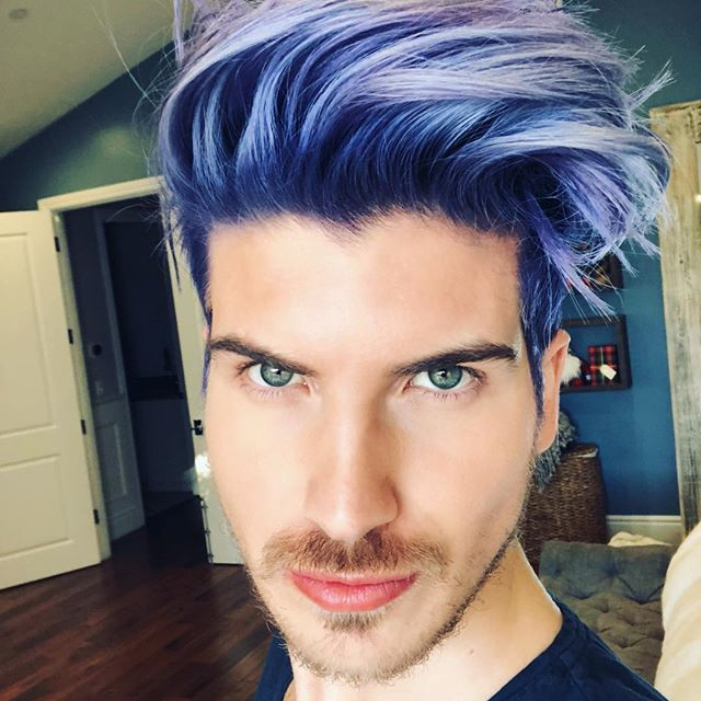 Blue Hair Ice Im Loving Metallic Ob Purple Silver Hair Highlights Male Steel Whos Blue Steel Purple Hair Men Hair Color Blue Ombre Hair Hair Color