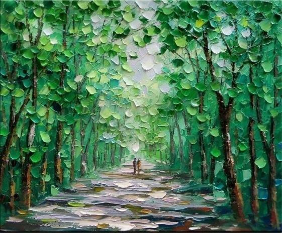 25 beste idee n over groene schilderijen op pinterest groen geschilderde kamers groen - Gemengde babykamer idee ...