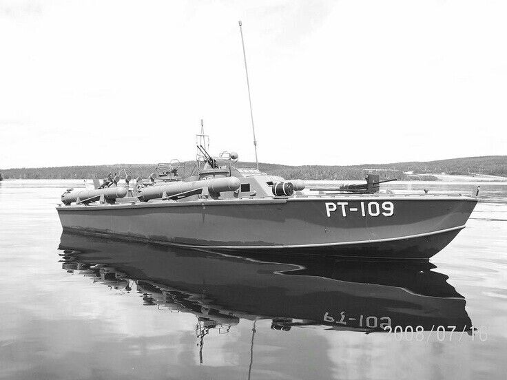 The most famous PT boat in WW II...skipper John F Kennedy's PT 109