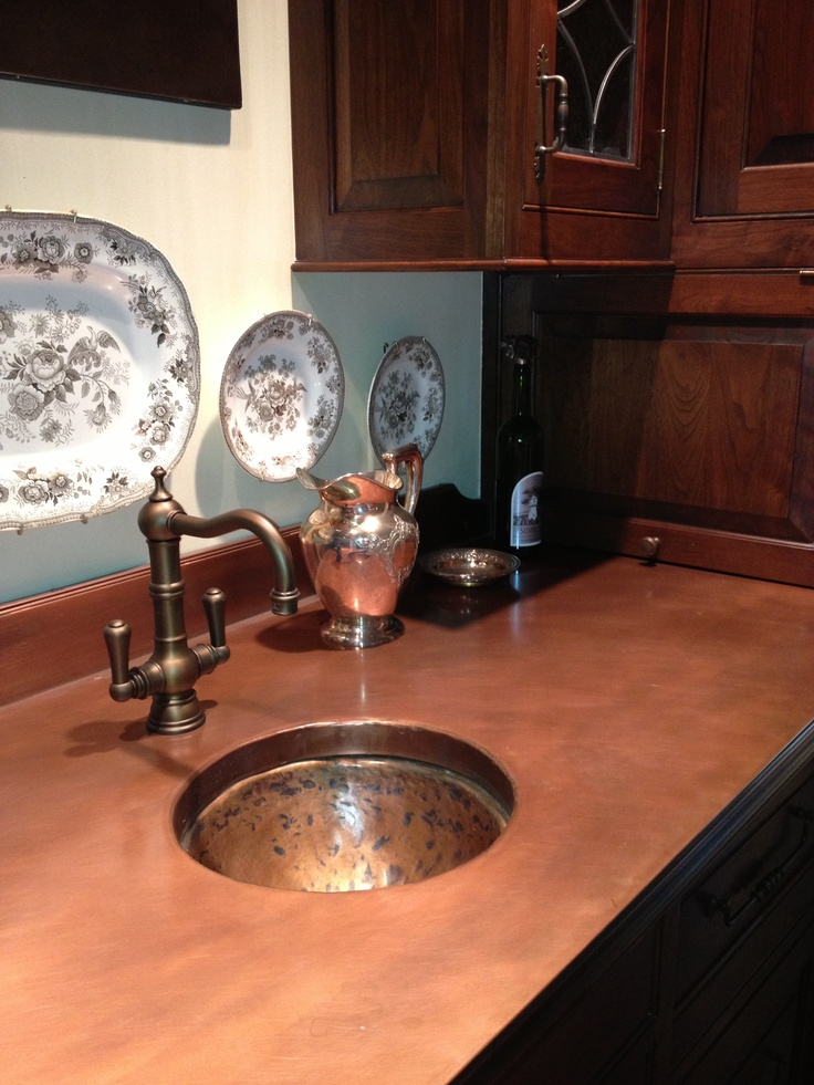 1000 images about copper counter tops on pinterest for Copper penny bar top
