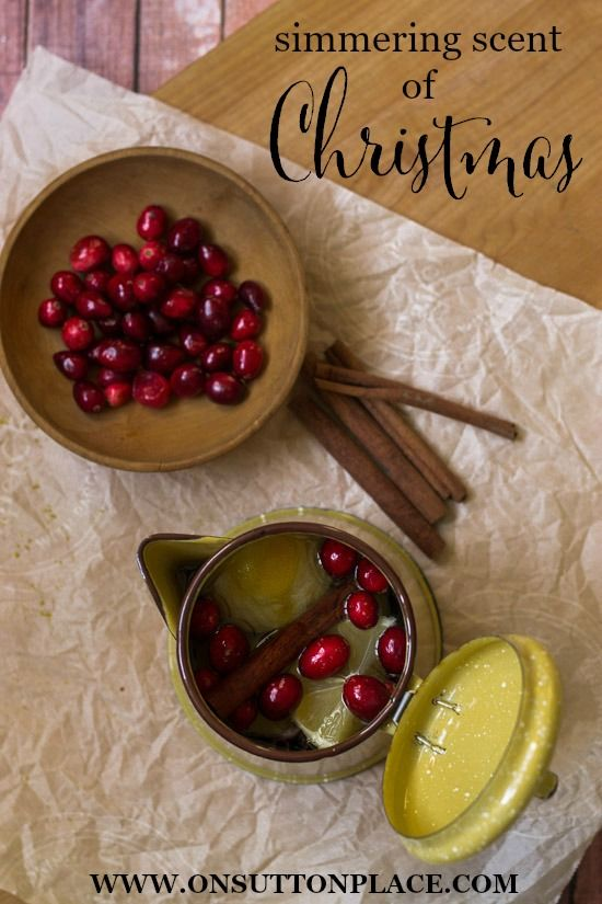 Just simmer these ingredients on your stove top and your whole house will smell just like Christmas!