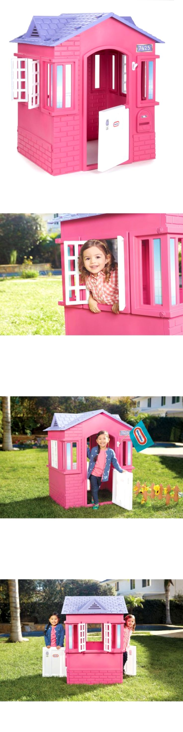 Permanent Playhouses 145995: Little Tikes Princess Cottage Playhouse, Pink -> BUY IT NOW ONLY: $114.99 on eBay!