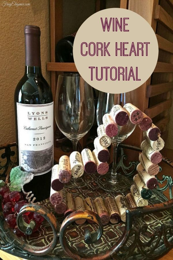 Wine Cork Heart Tutorial