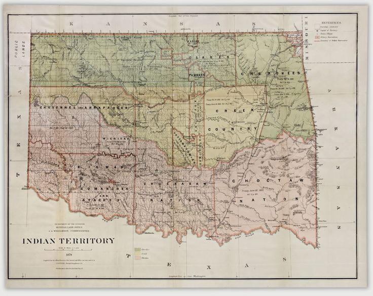 40 best maps images on pinterest antique maps antique prints map of indian territory what is now oklahoma from 1879 antique mapsantique sciox Gallery