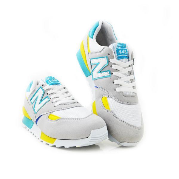 New Balance 446 Beyaz Sarı Turkuaz | BAYAN AYAKKABI | Spor | New balance kadın ayakkabıları - En uygun fiyata | Nelazimsa.net