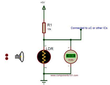 Simple LDR circuit diagram