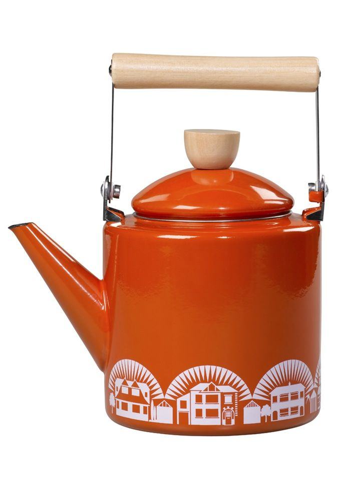 Image of Enamelware Kettle - Tangerine Dream