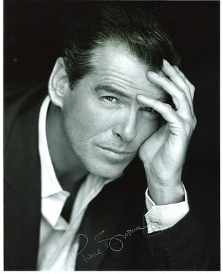 Pierce Brosnan -  I fell in love with this man when he was on Remington Steele. I was very underage, but I guess I always had thing for older fit handsome classy distinguished men.