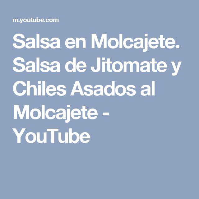 Salsa en Molcajete. Salsa de Jitomate y Chiles Asados al Molcajete - YouTube