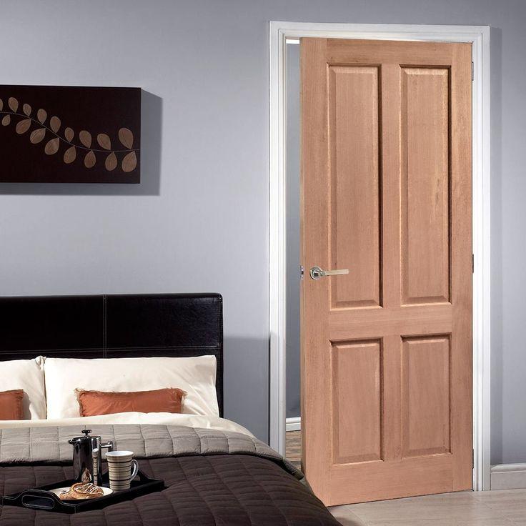 Regency 4 Panel Mahogany Solid Door. #mahoganypaneldoor #internalmahoganydoor #paneldoor