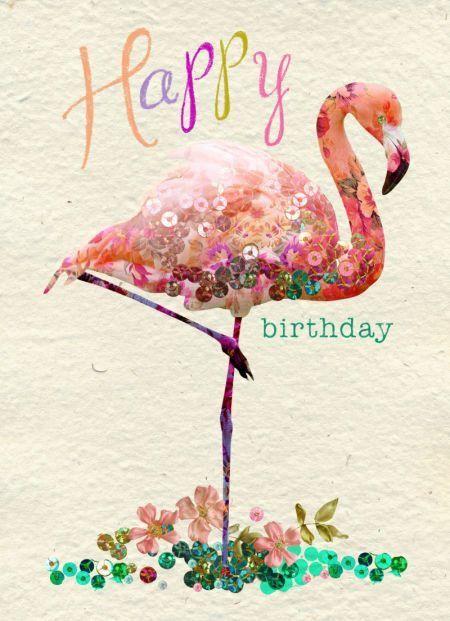 Birthday flamingo