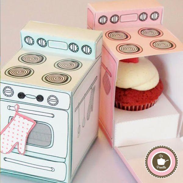 Embalagens fofas de cupcakes