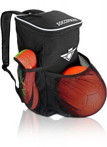Soccer Backpack with Ball Holder Compartment - For Kids Youth Boys & Girls | Bag Fits All Soccer Equipment & Gym Gear