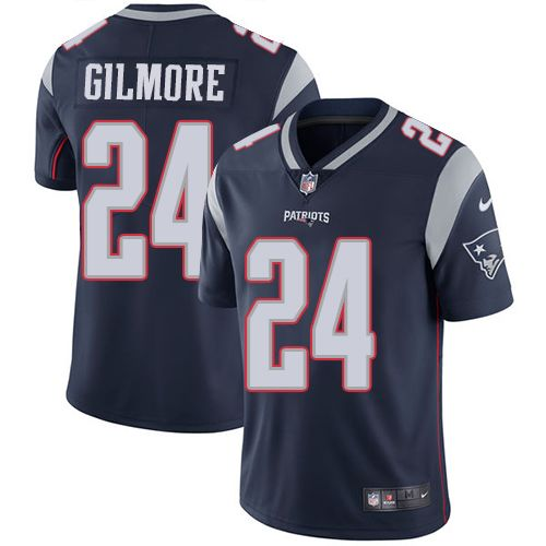 Youth Nike New England Patriots #24 Stephon Gilmore Navy Blue Team Color Vapor Untouchable Limited Player NFL Jersey