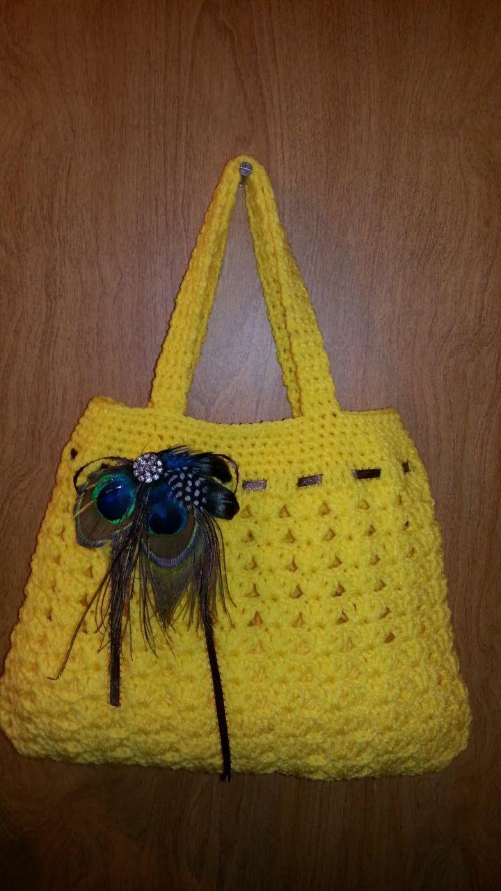 Fun Idea for DIY Crochet #handbag lovely purse #Tutorial Handmade croch...