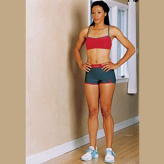 1. Stand with hands on hips, legs hip-width apart. Muscles it works: Hamstrings, butt  - GoodHousekeeping.com