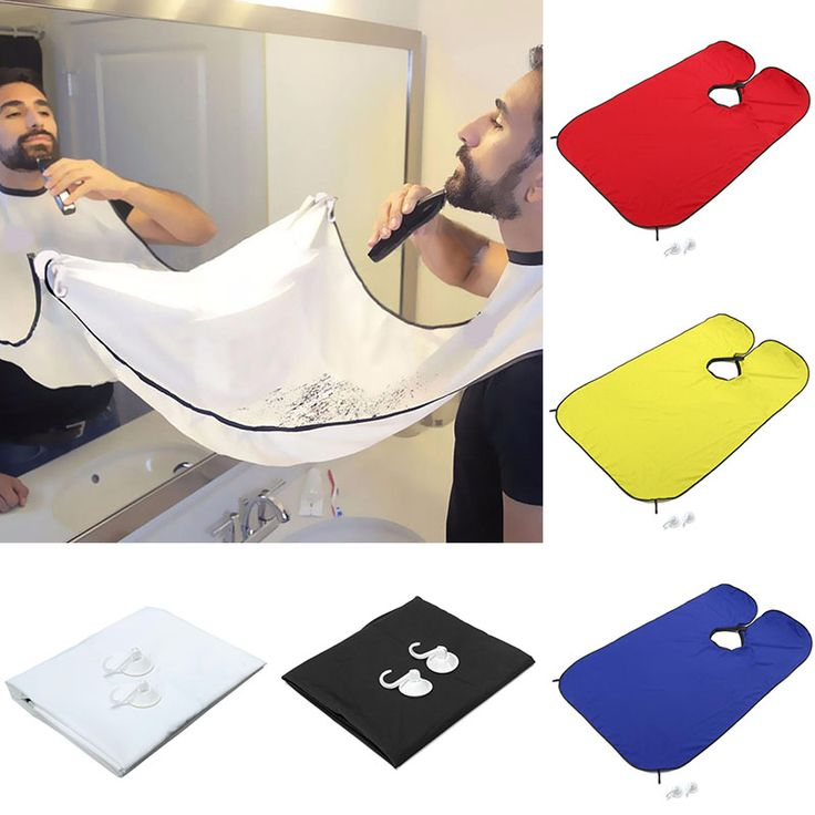 Waterproof Men Beard Apron Design Trim Catcher Cape Sink #Shaving# Trimming #Tool