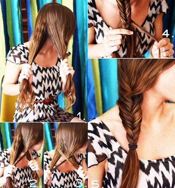 How to make a fishtail braid.