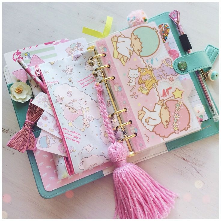 my little twin stars layout for my planner!✨