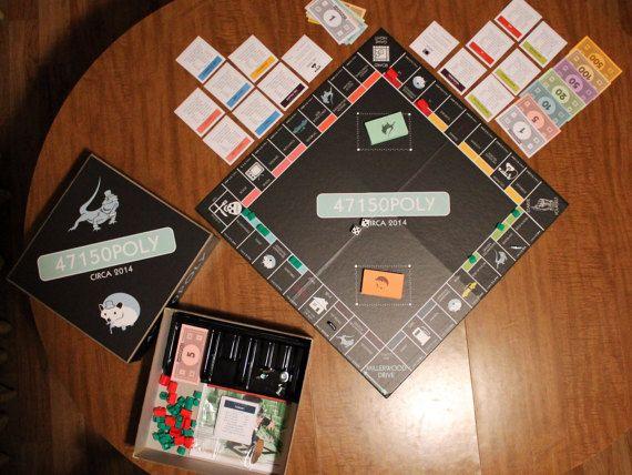 Custom Monopoly Board Game Bundle by CustomMadeKitsch on Etsy