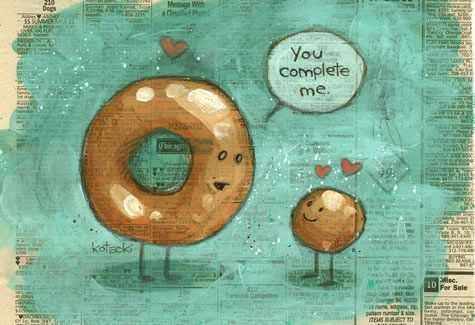 Awww!Donuts Hole, You Complete Me, Photos Gallery, Happy Food, Funny, Mornings Coffe, Food Humor, Conspiracy Theory, Love Quotes