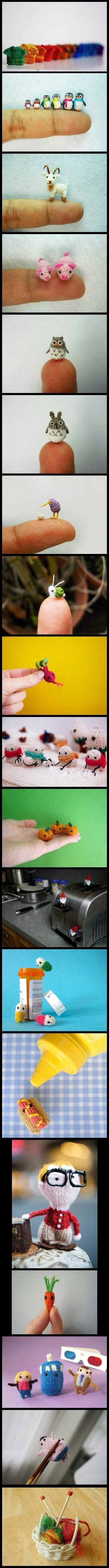 Mikro Amigurumi, Tiere und Puppen