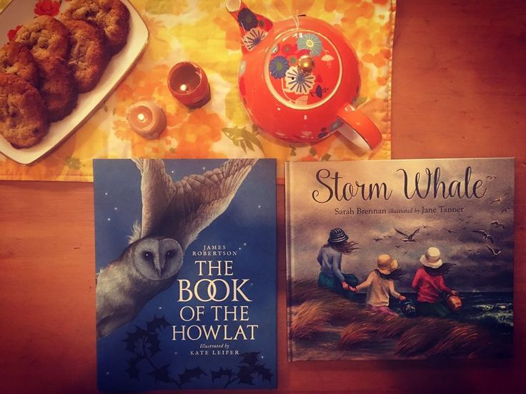 "Welcoming winter this afternoon with poetry, stories, tea and our favourite spelt and almond cookies. I was excited to find The Book of the Howlat at our local bookshop today. It's a version of the old old Scottish poem ""The Buke of the Howlat""  adapted into a poetic story for children. Perfect for our #poetryteatime this week."