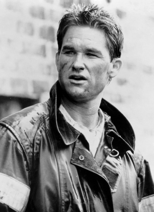 "Kurt Russell during the production of ""Backdraft"", 1991"