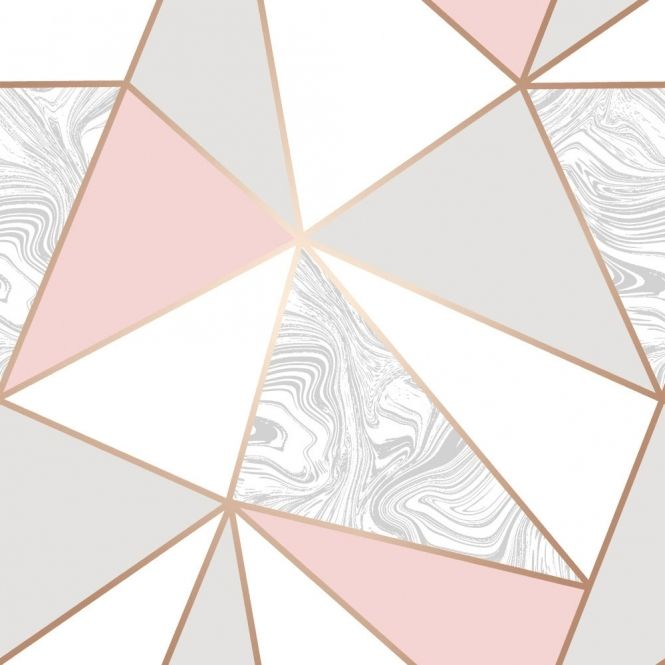 Zara Marble Metallic Wallpaper Soft Pink, Rose Gold (ILW980105) - from Henderson Interiors UK