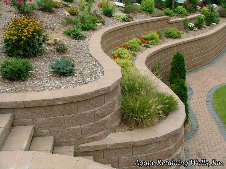 landscaping retaining wall - Landscape Design Retaining Wall Ideas