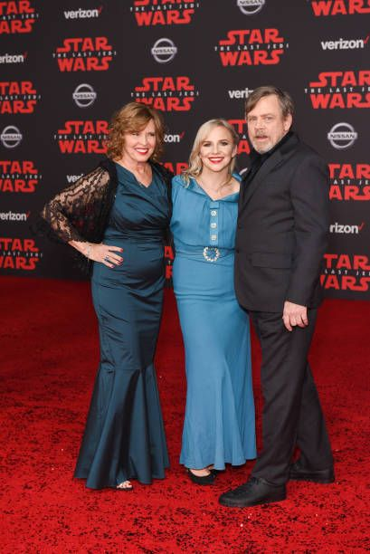 Marilou York Chelsea Hamill and Mark Hamill attend Premiere Of Disney Pictures And Lucasfilm's 'Star Wars The Last Jedi' Arrivals at The Shrine...