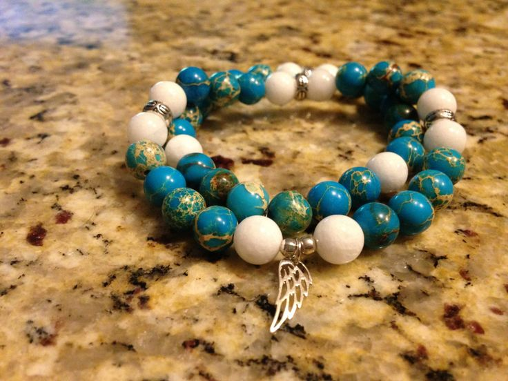 Custome Jade and Sea Sedimate Jasper Gemstone Bracelet set for Paula by happybuddhajewelry on Etsy
