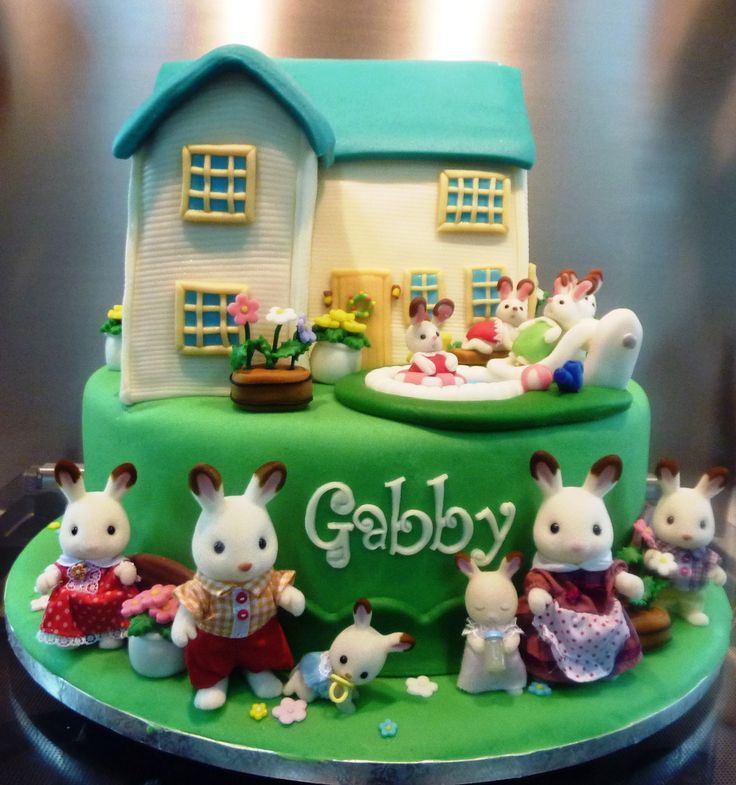 Best Sylvanian Family Party Images On Pinterest Sylvanian - Family birthday cake ideas