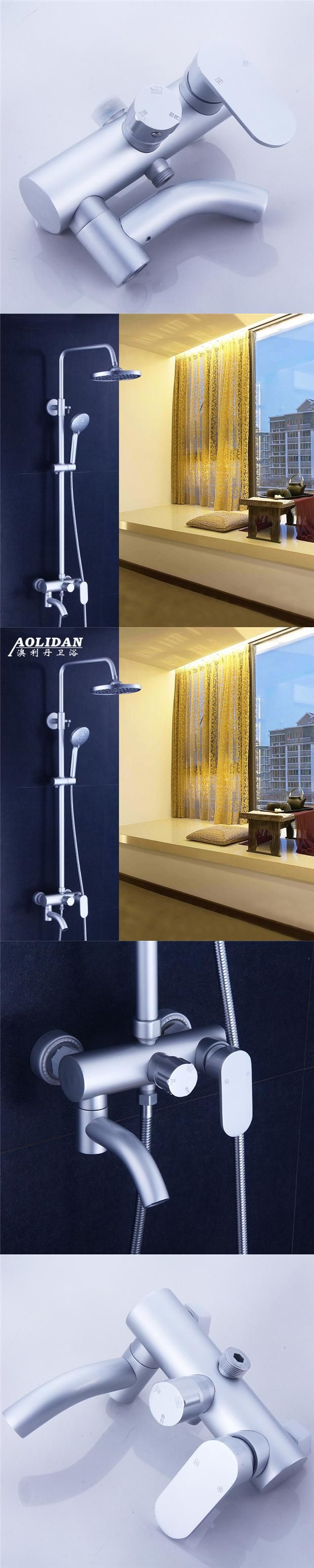 aluminum space suit bathroom shower cold and hot water valve set with the nozzle