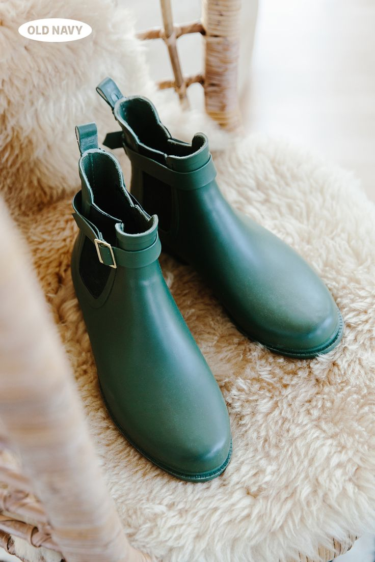A cute pair of rain boots will make you wish for rainy days. This ankle-length boot, in ivy green, is both utilitarian and flattering, and the grosgrain side tabs make them easy to pull on and off. You may just feel compelled to wear them on a dry day (just sayin').