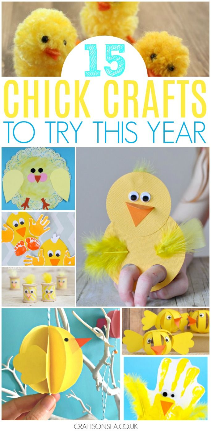 15 Chick Crafts For Kids Easter Spring Easter Crafts Crafts