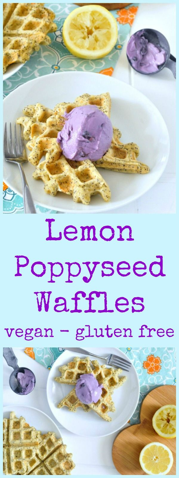 Lemon Poppyseed Waffles @spabettie #vegan #glutenfree