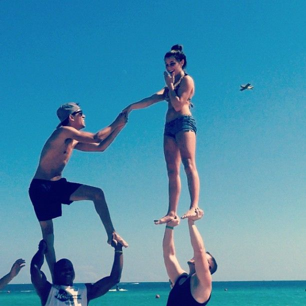 cutest proposal. only cheerleaders would understand