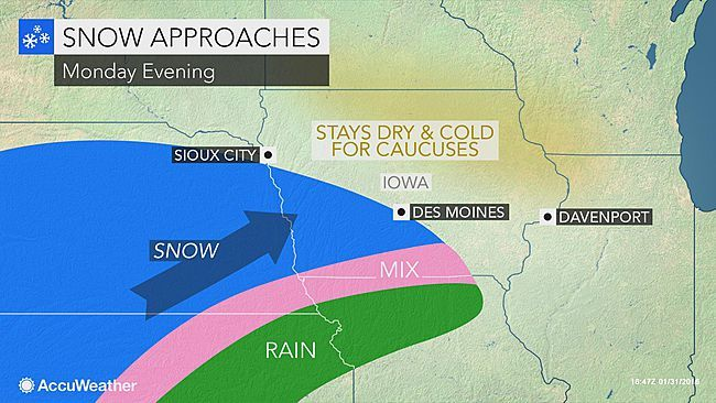Iowa caucuses 2016: Advancing snow may deter voters