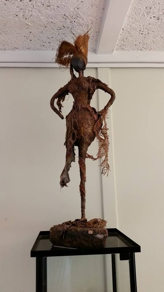Earth Mother, inspired by the figurines of Merilyn Thomas. Powertex Mixed Media / Autumn 2011 /