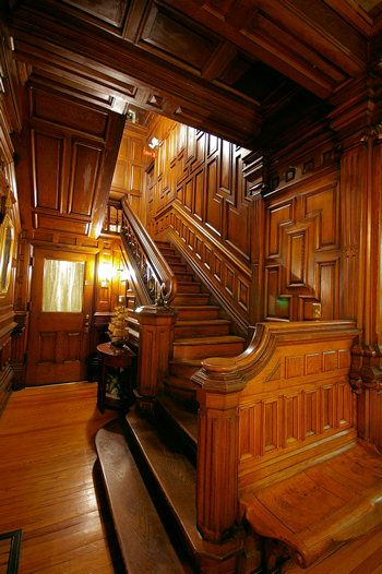 Victorian entry & staircase - Cedar Crest Inn Bed and Breakfast, Asheville near Biltmore Estate