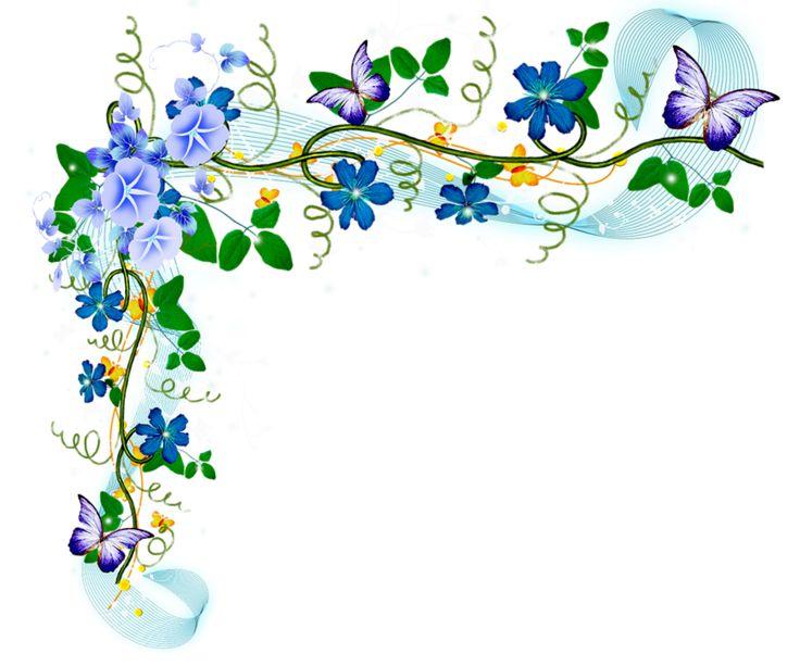 Днем, рамки и цветы в открытки уголки