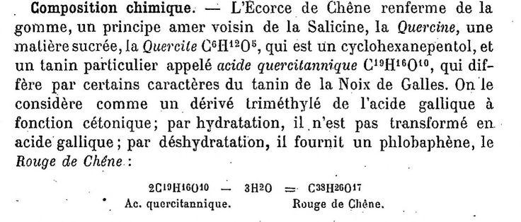 Tannins des Ecorces de chêne Traité de pharmacologie et de matière médicale, par J. Hérail
