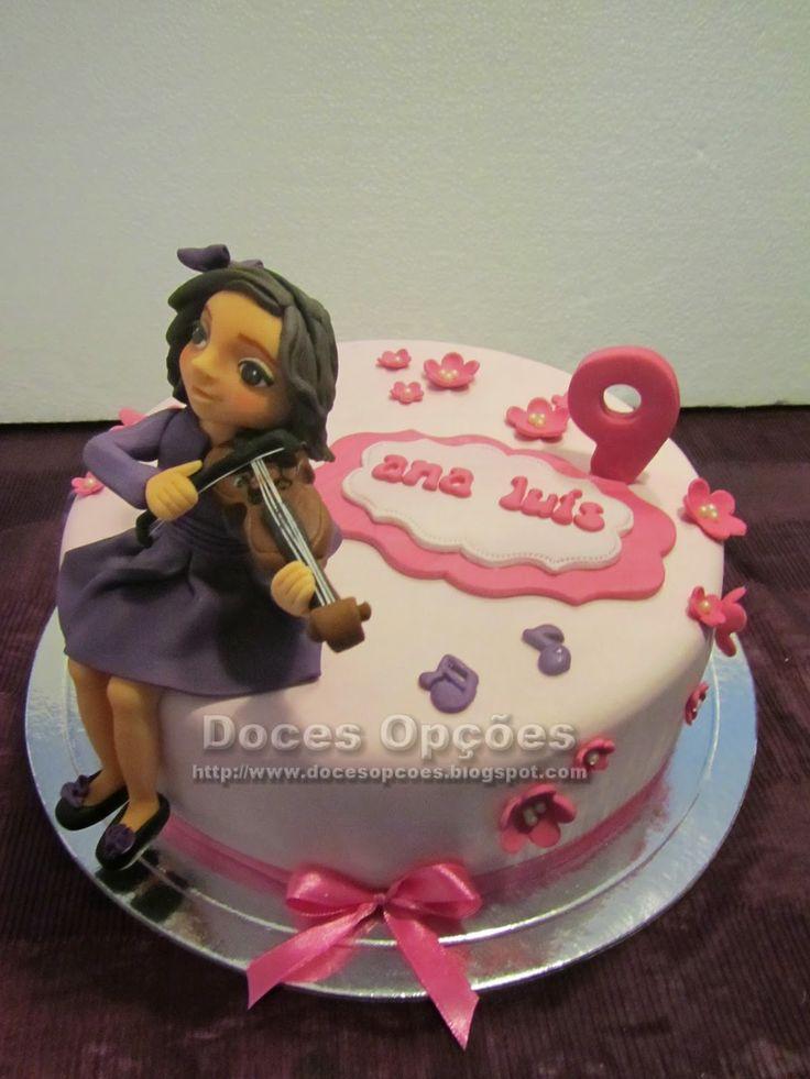 Doces Opções: Bolo de aniversário da Ana Luís com o seu violino
