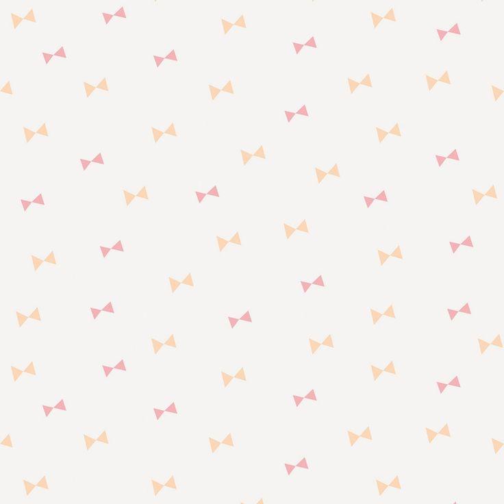 le papier peint petits noeuds roses by sarah betz pour. Black Bedroom Furniture Sets. Home Design Ideas