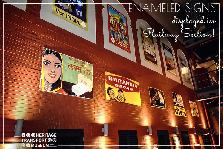 Enamel signs were popular modes of advertisements. This is reminiscence of the railways during British Raj!  #EnamelSigns #Advertisements #Nostalgia #Railways #Exhibit #VintageCollection