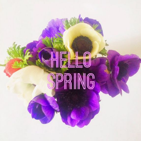 hello spring on girl for granted